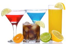 Free Cocktails With Fruits Stock Image - 16926361