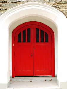 Free Red Church Door Stock Images - 16927154