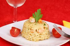 Free Risotto With Shrimps Royalty Free Stock Photo - 16927695