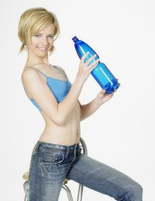 Free Woman With Bottle Of Water Stock Photos - 16928053