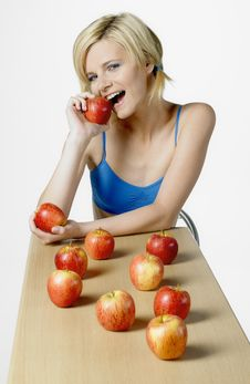 Free Woman With Apples Royalty Free Stock Photography - 16928057
