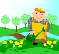 Free Gardener. Stock Photography - 16928062