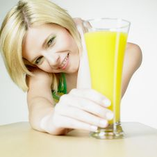 Free Woman With A Glass Of Juice Stock Photo - 16928070
