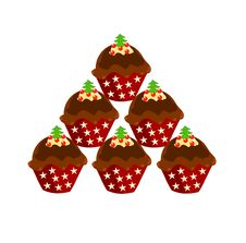Free Christmas Cupcakes Royalty Free Stock Photos - 16928258