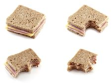 Free Eating A Sandwich Of Cheese And Ham Royalty Free Stock Photos - 16928708