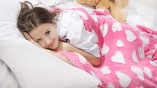 Young Woman In Bed Royalty Free Stock Photos