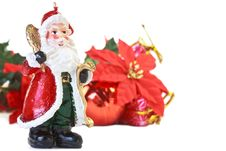 Free Santa Claus Candle With Christmas Decoration Royalty Free Stock Images - 16929149