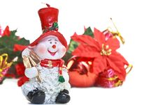 Free Santa Claus Candle With Christmas Decoration Royalty Free Stock Photography - 16929177