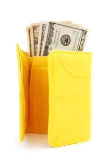 Free Yellow Leather Purse Stock Image - 16929221