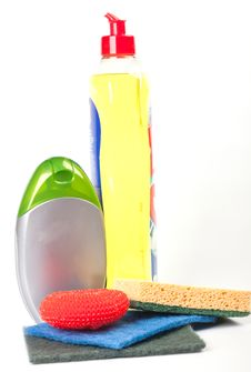 Free Cleaning Supplies Stock Photography - 16929582