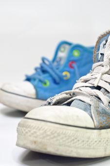 Old, Dirty Sneakers Royalty Free Stock Image