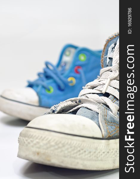 Old, dirty sneakers