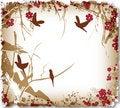 Free Romantic Cherry Tree With Birds Stock Image - 16930531