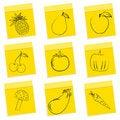 Free Fruit & Vegetables Sketch Royalty Free Stock Photos - 16936978