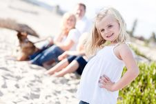 Free Adorable Blonde Girl Having Fun At The Beach Royalty Free Stock Photo - 16930155