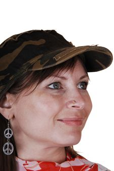 Free Lady With Hat. Stock Photography - 16930192