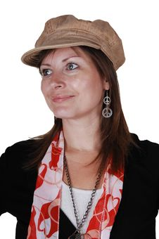 Free Lady With Hat. Stock Photography - 16930212