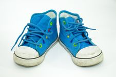 Old, Dirty Sneakers Stock Photography