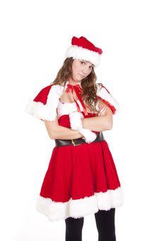 Mrs Santa Arms Folded Stock Photography