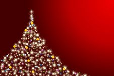 Free Colorful Abstract Christmas Tree Royalty Free Stock Photography - 16930667