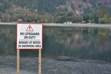 Free No Lifeguard Sign Royalty Free Stock Photos - 16931498