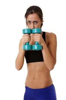 Free Sports Woman With Dumbbells Stock Photos - 16931583