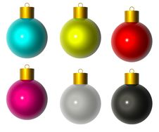 Free Isolated From The White-colored Christmas Balls Royalty Free Stock Photos - 16932238