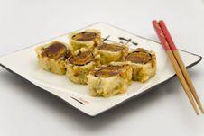 Deep Fried Tuna Roll Stock Image