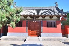 Chinese Traditional Temple Building Royalty Free Stock Photography