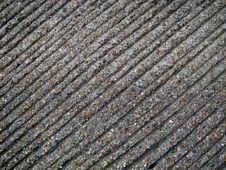 Ribbed Concrete Road Texture Stock Photo