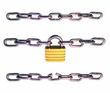 Free Chains_padlock Stock Photography - 16932602