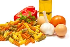 Free Ingredients And Spaghetti Royalty Free Stock Image - 16934876