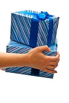 Free Gifts Boxes On Hands Stock Photos - 16934993