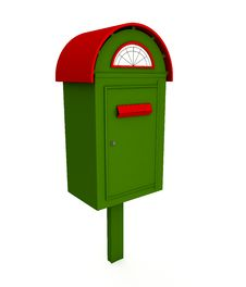 Free Green Mailbox Royalty Free Stock Photos - 16935208