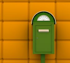 Green Mailbox Stock Photo
