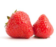 Free Two Strawberries Royalty Free Stock Photo - 16935385