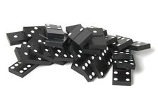 Free Black Dominoes Royalty Free Stock Photo - 16935395