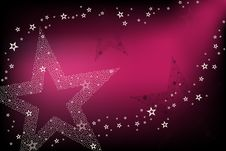 Disco Background With Stars. Vector Royalty Free Stock Photography