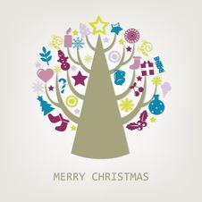 Merry Christmas Composition. Vector