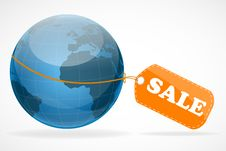 Free Global Sale Tag Royalty Free Stock Images - 16936959