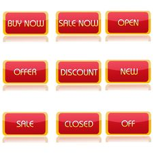 Free Various Shopping Texts Royalty Free Stock Image - 16936966