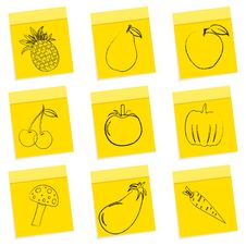 Free Fruit & Vegetables Sketch Royalty Free Stock Photos - 16936978
