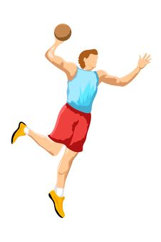 Free Basketball Player Stock Image - 16937011