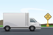 Free Truck On Road Royalty Free Stock Photos - 16937028