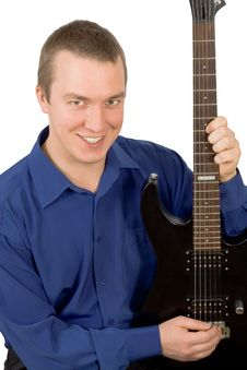 Free Young Man With A Guitar Stock Photography - 16937422