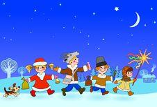 Free Kolyadki (christmas Going A-shroving) Royalty Free Stock Images - 16937459