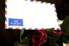Free Air Mail Envelope Royalty Free Stock Images - 16938079