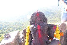 Close Head Shot Of Ganesh Lord At Dholkal Royalty Free Stock Images