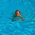 Free Child Has Fun In The Pool Stock Image - 16943251