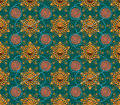 Free Gold Flower Star Pattern Stock Image - 16943341